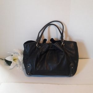 Cole Haan black leather shoulders bag